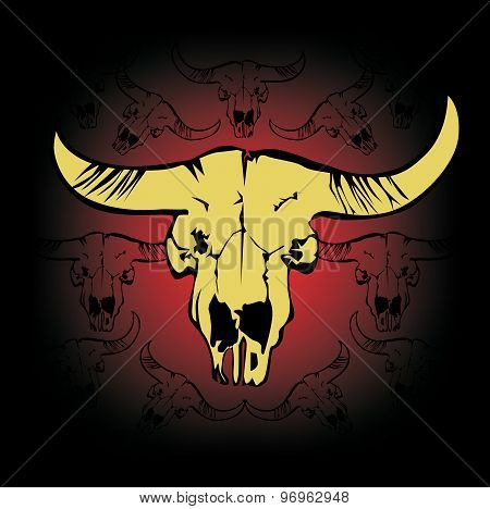 meat of cow beef label beef sign bull head)