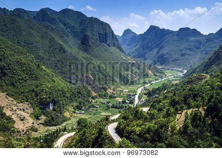 Mountain road in Vietnam