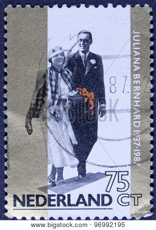 Wedding on a postage stamp.