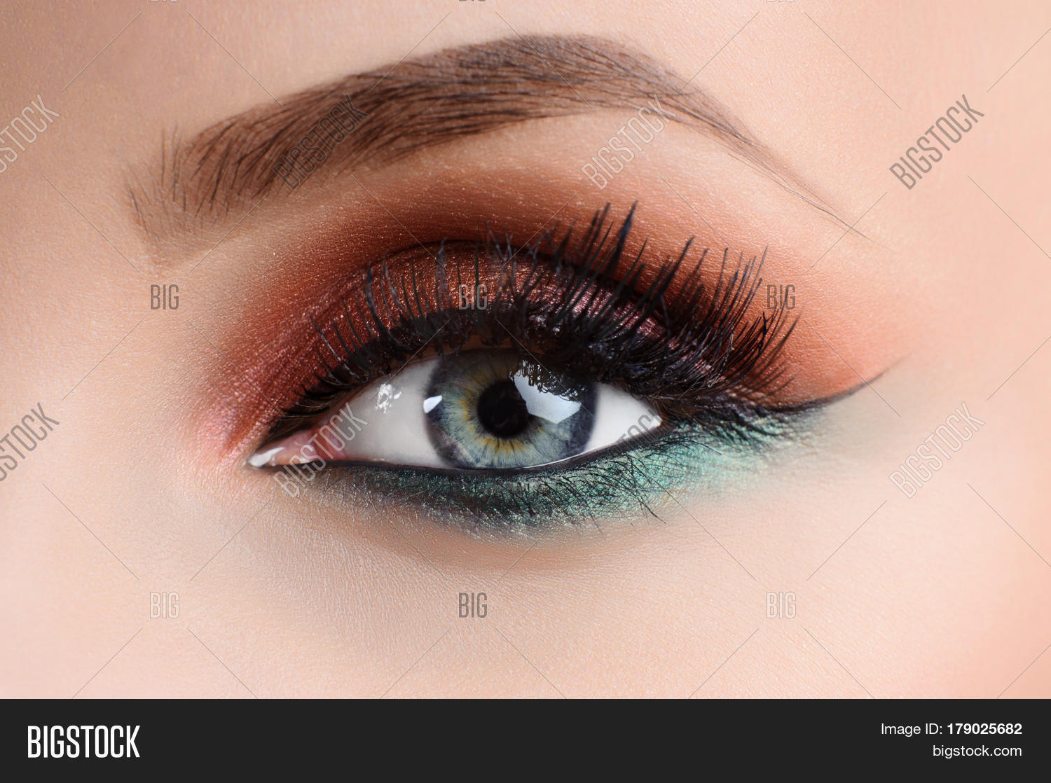 Colorful Eye Makeup Image Photo Free Trial Bigstock