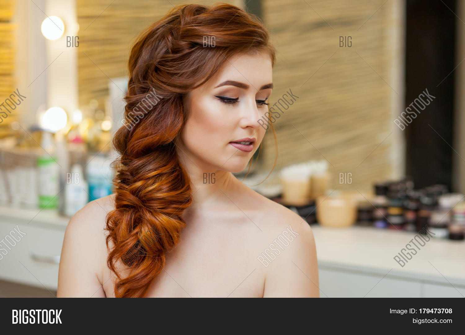 Beautiful Girl Long Image Photo Free Trial Bigstock