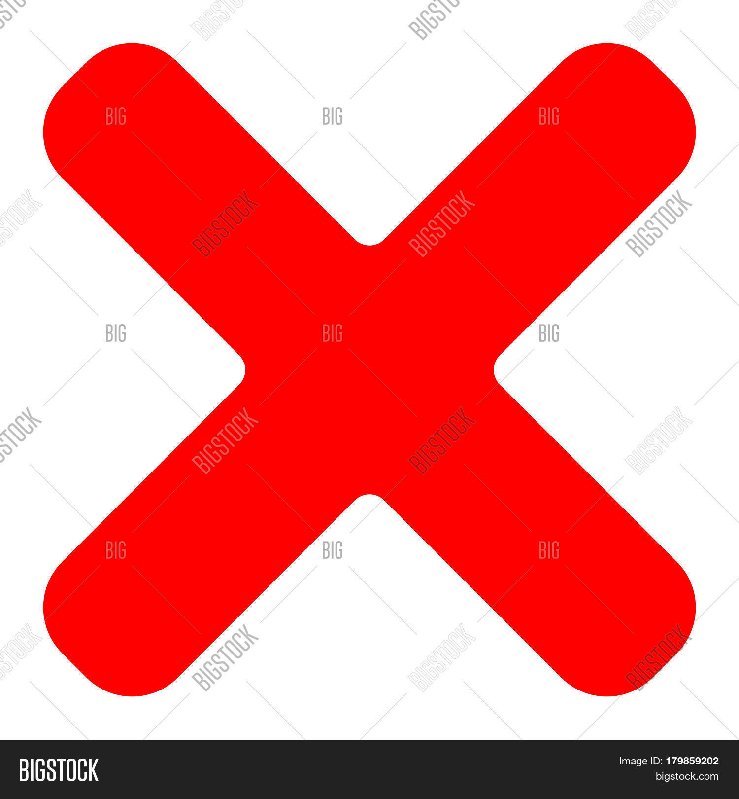 Red cross symbol icon delete vector photo bigstock red cross symbol icon as delete remove fail failure or incorrect answer biocorpaavc Images