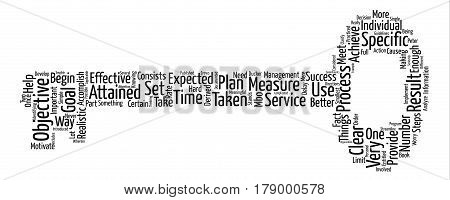 set an objective dlvy text background word cloud concept