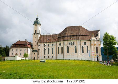 Pilgrimage Church Of Wies, Bavaria, Germany.