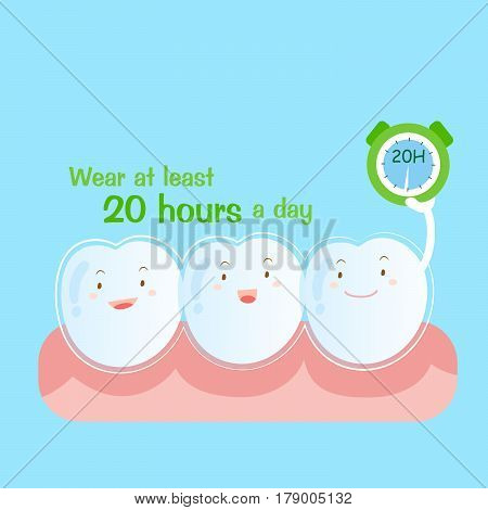 cute cartoon tooth wear brace at least 20 hours a day