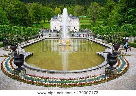 Linderhof Palace Is A Schloss In Germany, Near Ettal Abbey.