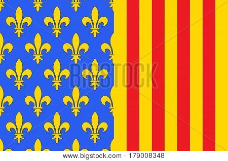 Flag of Lozere is a department in the region of Occitanie in southern France near the Massif Central. Vector illustration