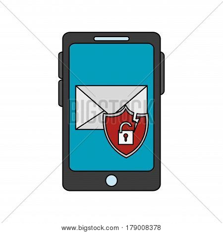 cellphone antivirus icon image vector illustration design