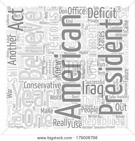 Six Years Later A Failed Presidency Word Cloud Concept Text Background