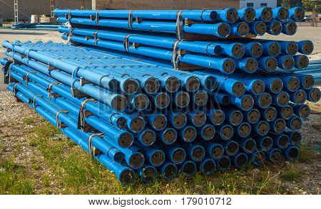 tubes with outer coating of zinc and aluminum alloy (ZnAl) with a minimum mass of 400 g / sqm (C40) used for drinking water networks