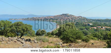 The first view you get  when approaching the popular holiday resort of Molyvos