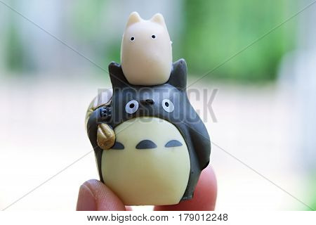 Thailand, March 2016 : This is Totoro and friends model figures japanese famous cartoon