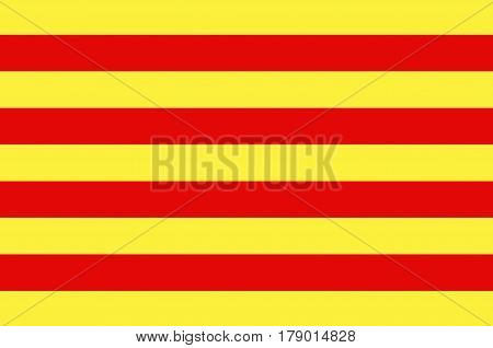 Flag of Pyrenees-Orientales is a department of southern France adjacent to the northern Spanish frontier and the Mediterranean Sea.