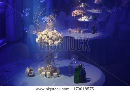 Banquet Room In A Blue Haze