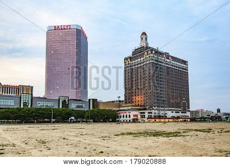 Skyline Of Atlantic City In The Afternoon With Casinos