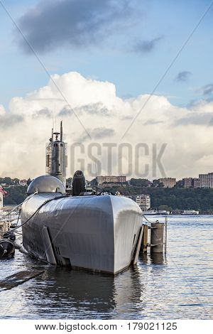 Submarine At Museum Pier 86