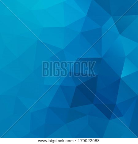 Blue vector shiny triangle background design. Geometric background in Origami style with gradient. Vector design for your background, cover, poster, banner, flyer, party invitation card, brochure etc