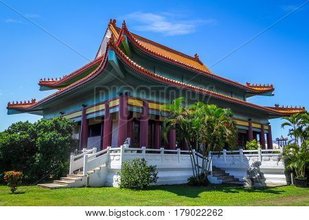Chinese Temple In Papeete On Tahiti Island
