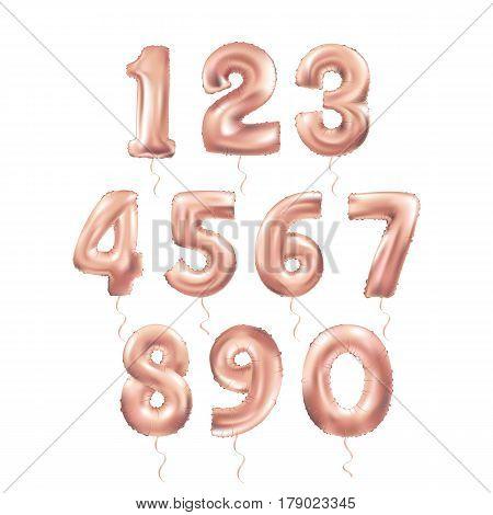 Metallic Pinkletter Balloons 123