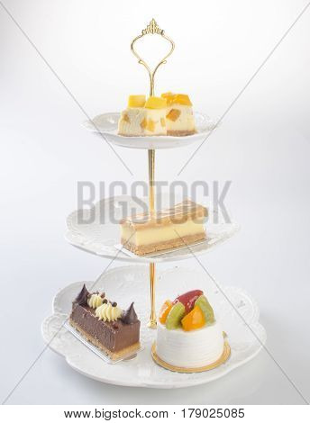 Tray Or Three Tier Serving Tray With Dessert.