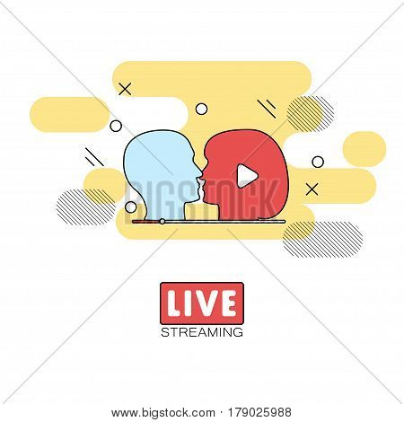 Live Streaming Concept