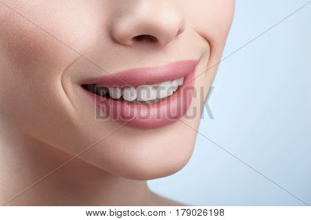 Smile of health. Close up of stunning perfect smile of a beautiful woman copyspace healthy white teeth dentistry healthcare beauty happiness dental treatment whitening bleaching toothy smiling concept