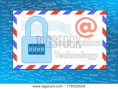 Encrypted electronic messages. Safe chat. cyber, internet,