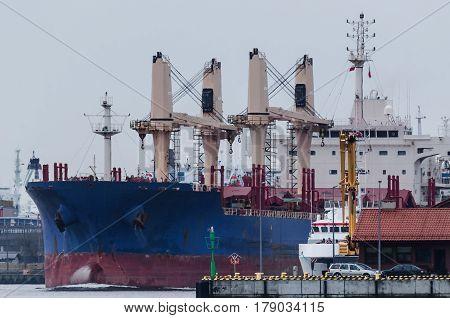 BULK CARRIER IN THE PORT OF SWINOUJSCIE - Marine transportation industry