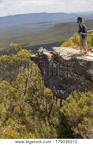 Man looking at view, Australia