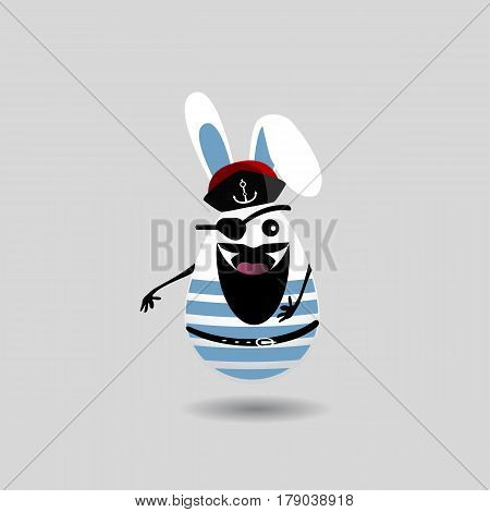 Easter Cartoon Illustration.