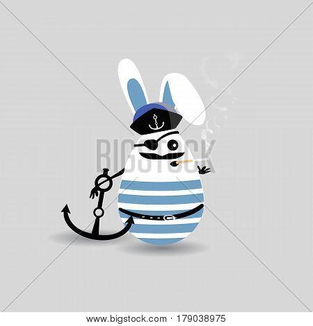 Easter Cartoon Illustrationround