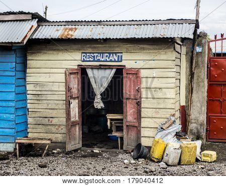 restaurant in Nord Kivu, DRC