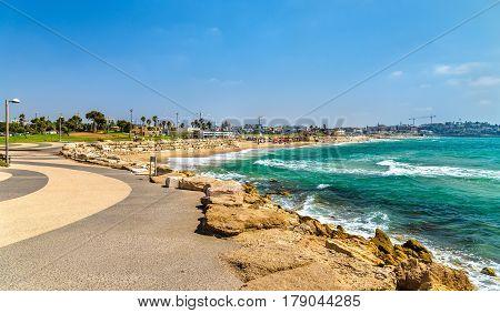 View of the Mediterranean waterfront of Tel Aviv - Israel