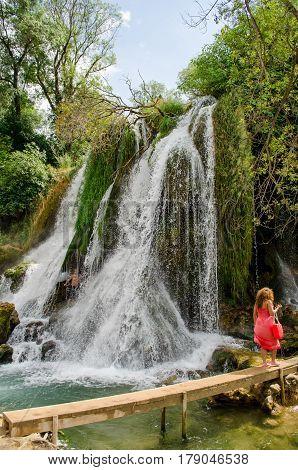 Kravice waterfalls on the Trebizat river in Bosnia and Herzegovina