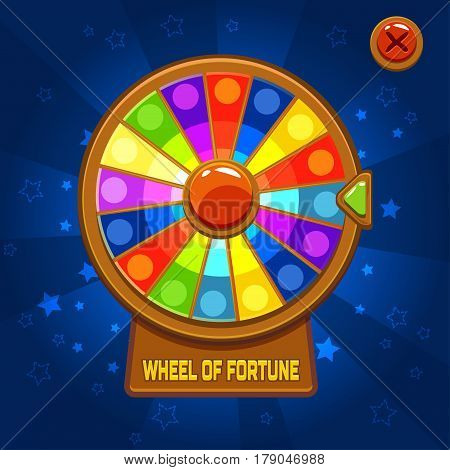 Vector Wheel of Fortune For Ui Game element