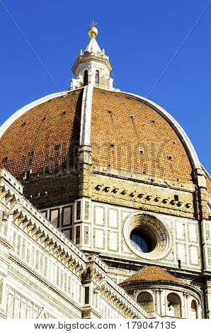 Brunelleschi's Dome of the Santa Maria del Fiore Cathedral, Florence, Italy.