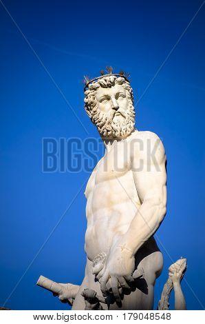 Neptune statue in Piazza della Signoria Florence, Italy