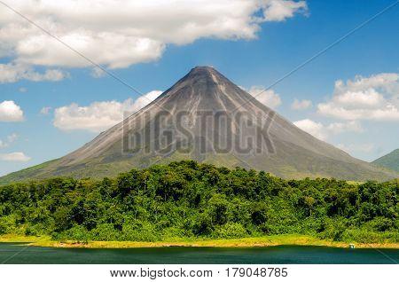 Typical dormant volcano: Arenal volcano (Costa Rica, La Fortuna).