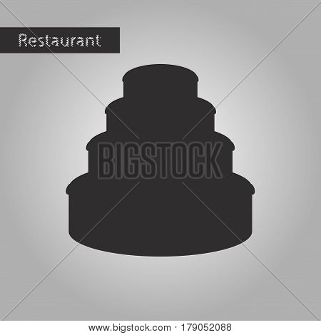 black and white style icon Three-tier cake