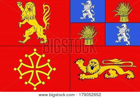 Flag of Tarn-et-Garonne is a department in the southwest of France.