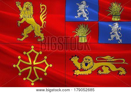 Flag of Tarn-et-Garonne is a department in the southwest of France. 3d illustration