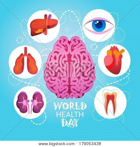 World Health Day 7 April Global Holiday Concept Flat Vector Illustration
