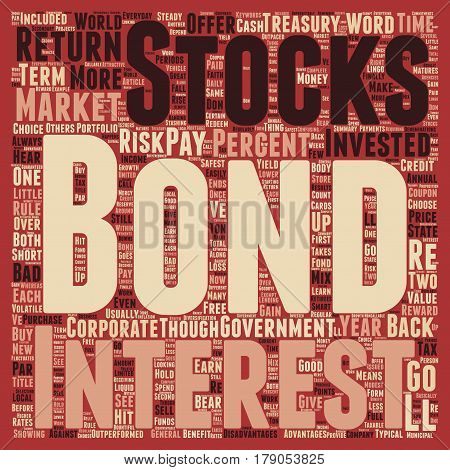 The Bond Market And How You Can Benefit text background wordcloud concept