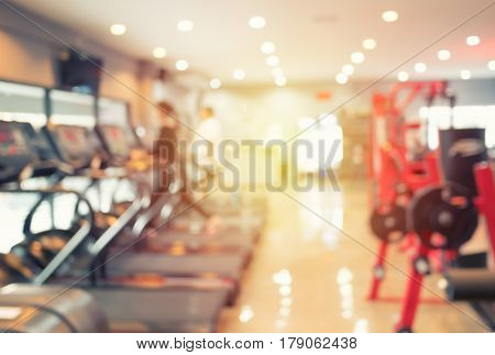 Abstract blurred or de focused background of Gym fitness