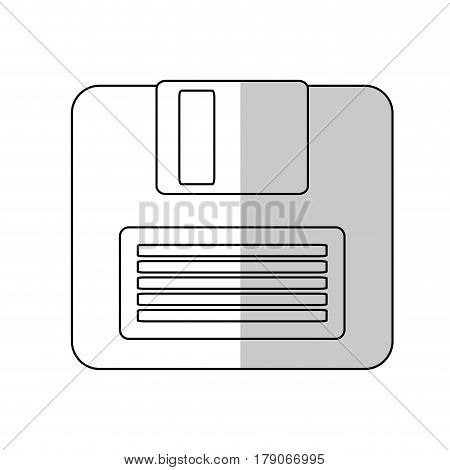 diskette icon over white background. colorful design. vector illustration
