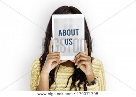 About us overlay word young people