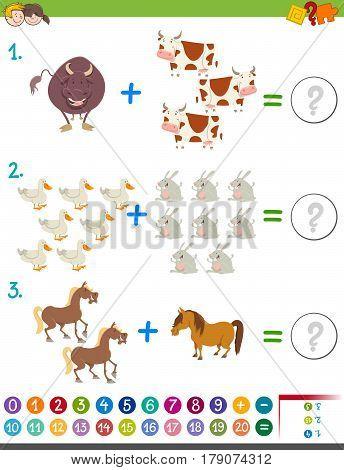 Addition Maths Activity With Animals