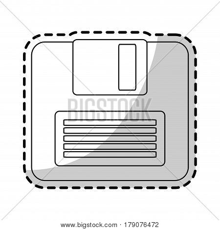 computer diskette icon image vector illustration design