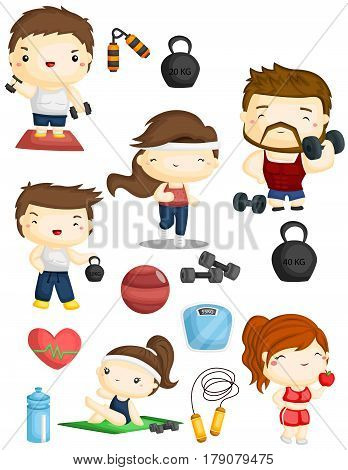 a Fitness Vector Set with many item and objects