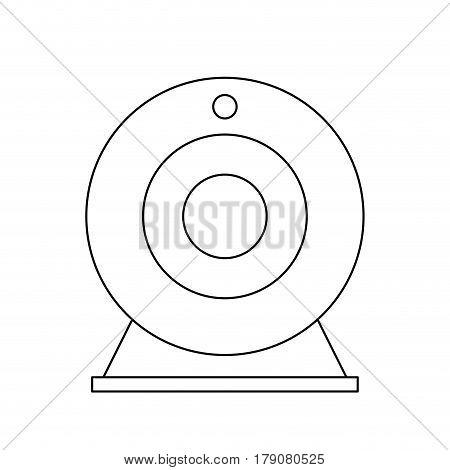 attachable webcam icon image vector illustration design